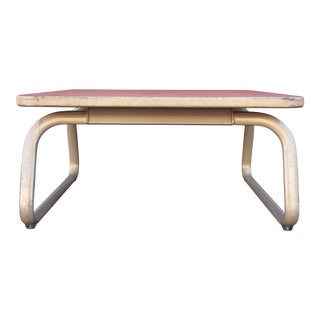 Vintage Industrial Steelcase Coffee Table For Sale