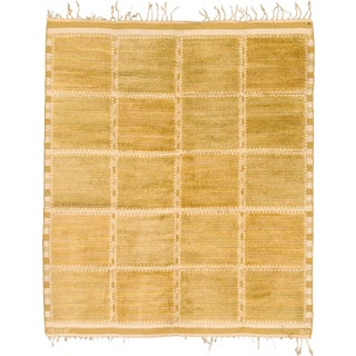 Mid 20th Century Swedish Flat Weave Rug by Mmf and Barbro Nilsson For Sale