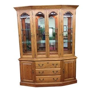 Pennsylvania House Oak China Cabinet For Sale