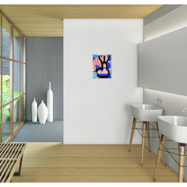 "Canvas Sarah Svetlana ""Finally Sat at the Cool Kids Table"" Original Painting For Sale - Image 7 of 9"