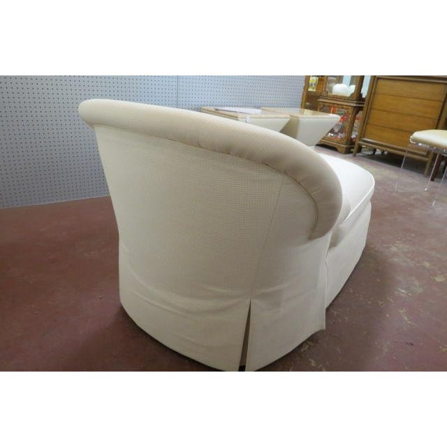 1980s 1980s Vintage Cream Fabric Custom Chaise Lounge For Sale - Image 5 of 7