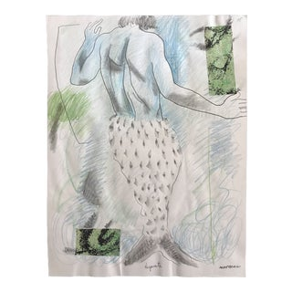"""""""Desperate Merman"""" Collage and Drawing by James Bone For Sale"""