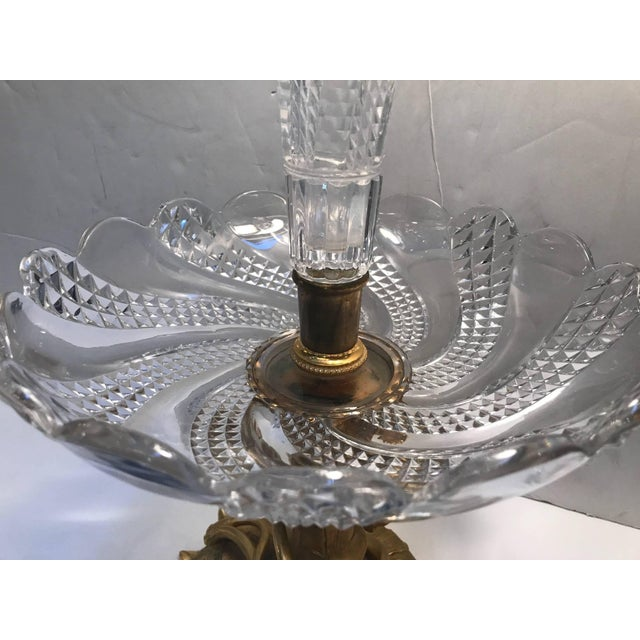Late 19th Century 19th Century Art Nouveau Baccarat and Ormolu Trumpet Centre Piece For Sale - Image 5 of 8