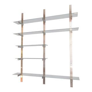 Aluminum and Glass Shelving Unit