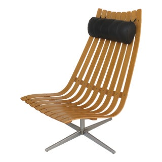 Scandia Senior Bentwood Swivel Chair by Hans Battrud Norway C2010