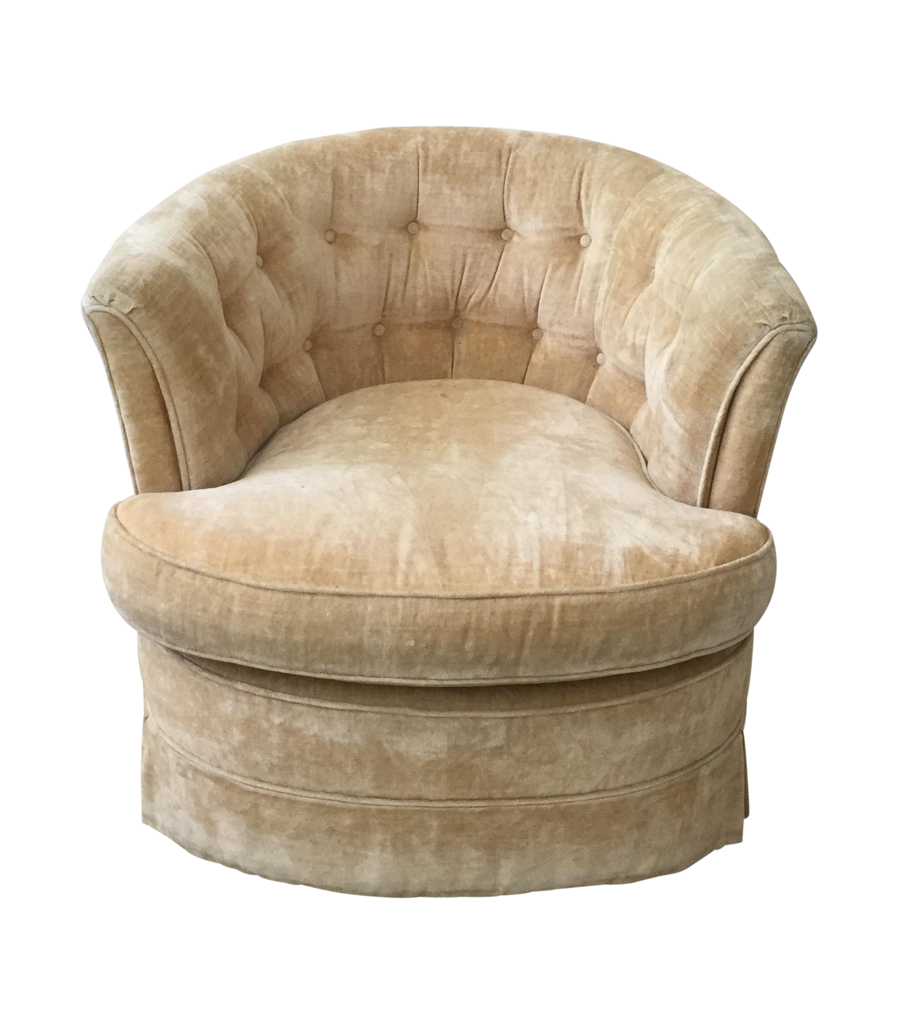 Attrayant Vintage Tufted Swivel Chair