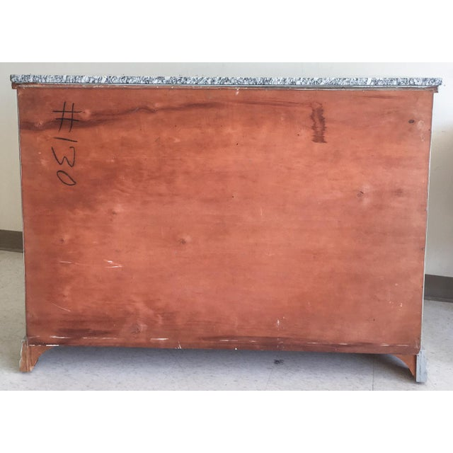 Grey Painted Server With Granite Top For Sale - Image 11 of 11