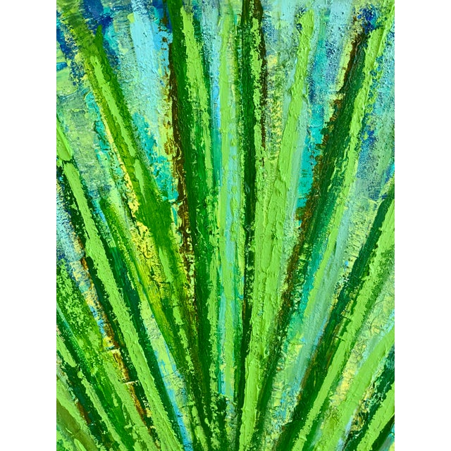 """""""Succulent"""" Original Abstract Acrylic Painting by Tony Marine For Sale In Palm Springs - Image 6 of 6"""
