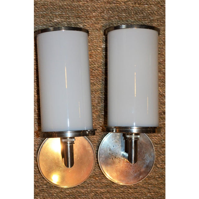 Visual Comfort Studio Cylinder Sconces - a Pair - Image 3 of 10