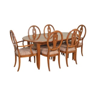 Ethan Allen Country Colors Maple Dining Set Table & 6 Chairs For Sale