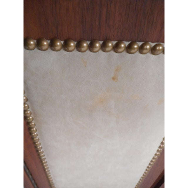 Vintage Modern Walnut Credenza With an Upholstered Front For Sale In New York - Image 6 of 11