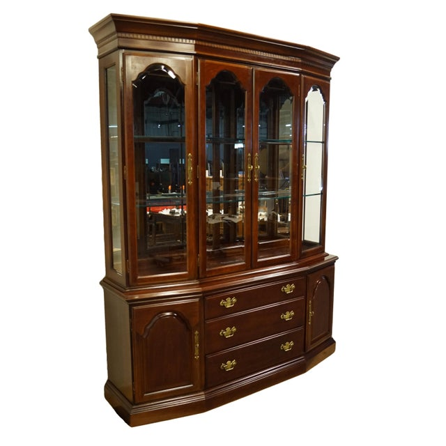 Traditional Bernhardt Furniture Traditional Solid Cherry China Cabinet For Sale - Image 3 of 12