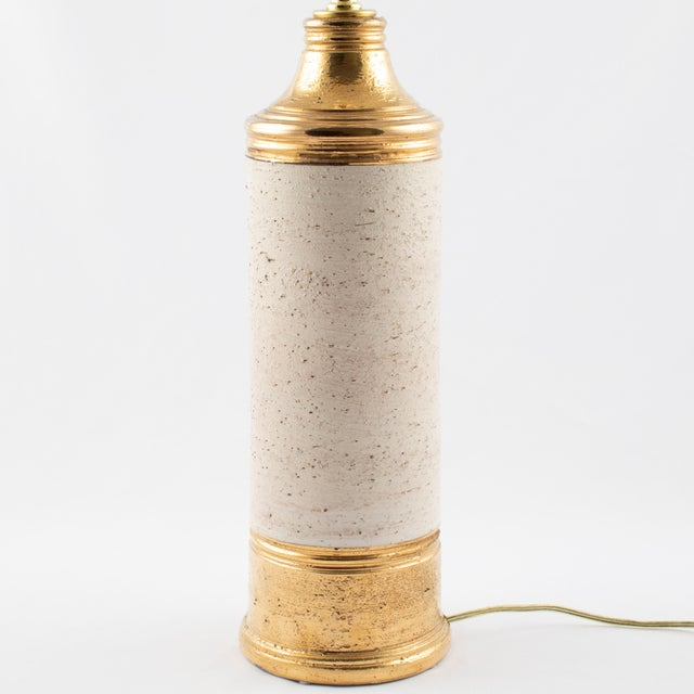 """1960s Bitossi Gold """"Birch"""" Table Lamp for Bergboms, Circa 1960s For Sale - Image 5 of 11"""