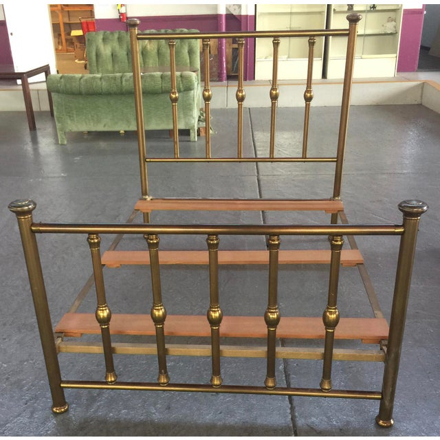Antique Full Size Brass Bed For Sale - Image 12 of 12