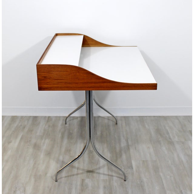 Mid-Century Modern Early Production George Nelson Herman Miller Swag Leg Desk For Sale - Image 11 of 13