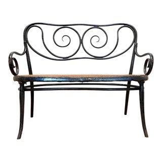 Gebruder Thonet Art Nouveau Bentwood Bench Settee For Sale