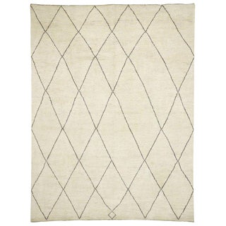Contemporary Moroccan Style Area Rug - 10′5″ × 13′6″ For Sale