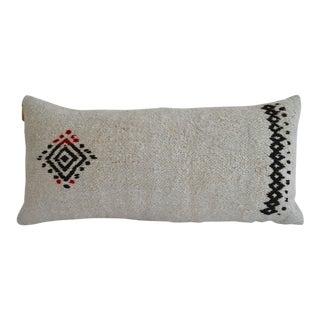 Lumbar Kilim Pillow Cover. 100% Natural Hemp Pillow Sham - 13ʺ X 26ʺ For Sale