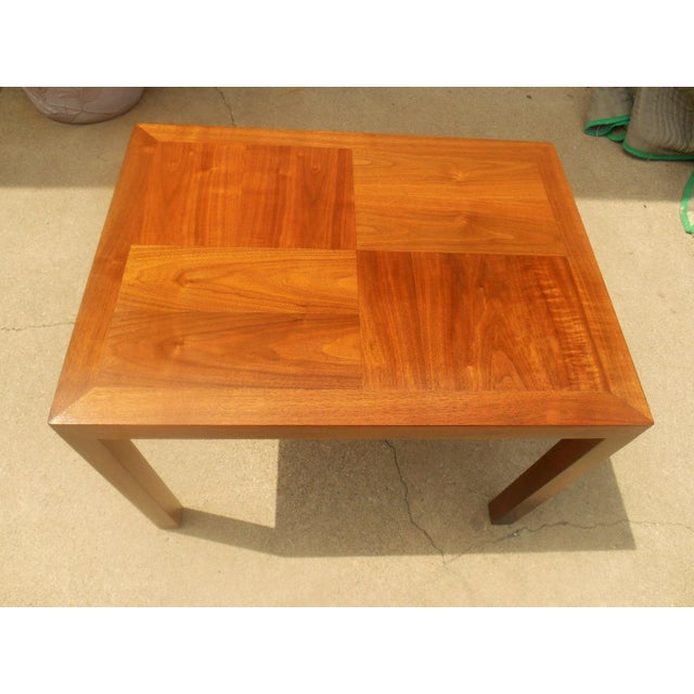 Danish Modern Lane Mid-Century Parquet Side Table For Sale - Image 3 of 6