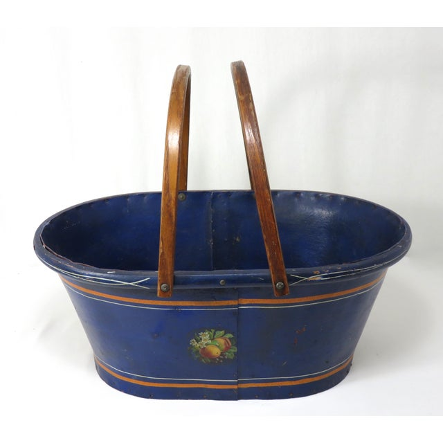Victorian 1890s Antique Grocery Shopping Carry Basket For Sale - Image 3 of 13