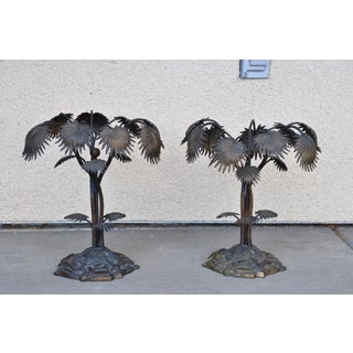Vintage Bronze Palm Tree Like Sculptures -A Pair Preview