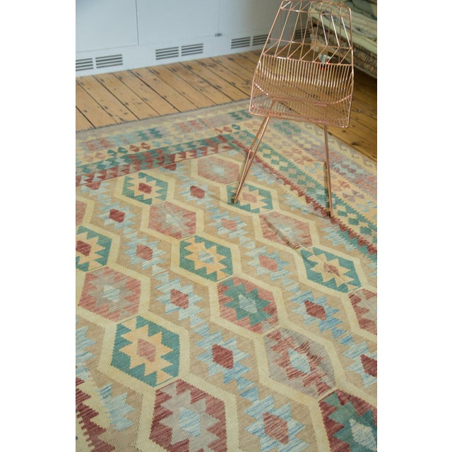 "Boho Chic Geometric Medallion Kilim Carpet - 8'2"" X 11'3"" For Sale - Image 3 of 8"