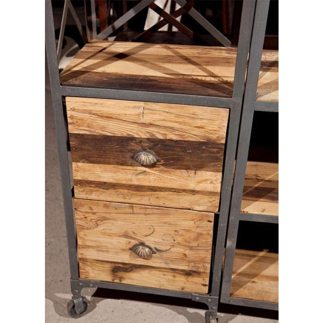 Industrial Wood & Metal Entertainment Center - Image 5 of 10