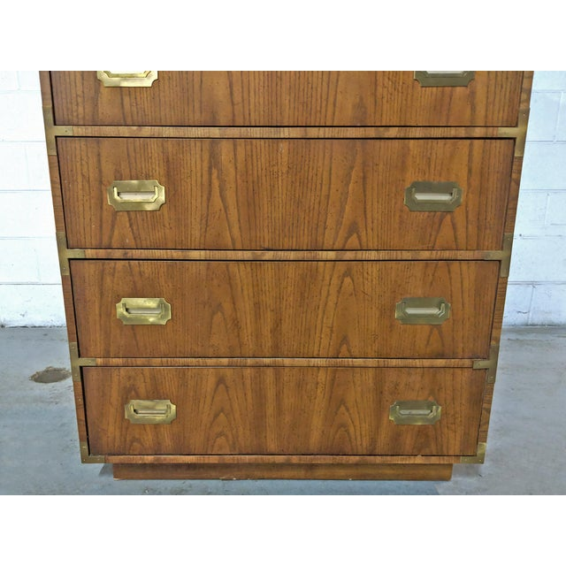 1970s Campaign Dixie Furniture Tall Dresser For Sale In Chicago - Image 6 of 12