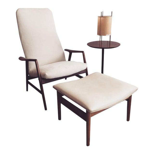 Alf Svensson Danish Reclining Lounge Chair & Ottoman - Image 7 of 7