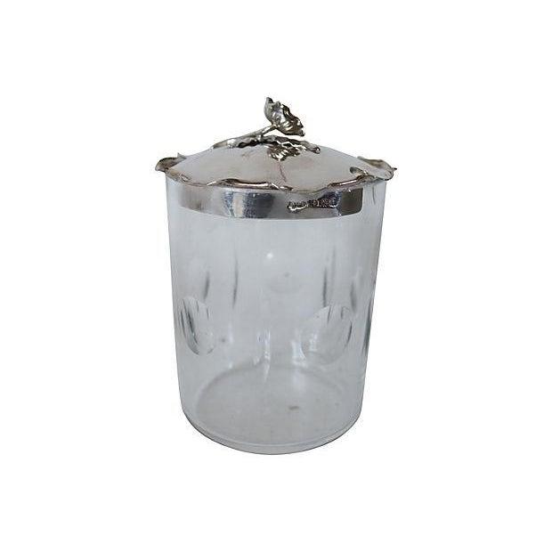 Sterling Silver & Crystal Honey Pot - Image 1 of 3