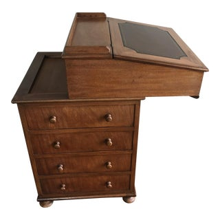 Antique British Colonial Davenport/Captain's Desk For Sale