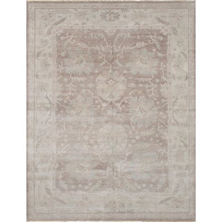 """Hand-Knotted Rug, 9'1"""" x 11'10"""" feet"""