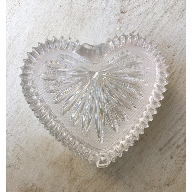 Art Deco Style Crystal Heart Jewelry Box - Image 5 of 10