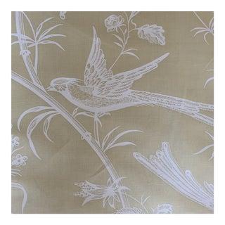 Brunschwig and Fils Maison Hamot Paris Bengali Mimosa Yellow Cotton Fabric- 3 Yards For Sale
