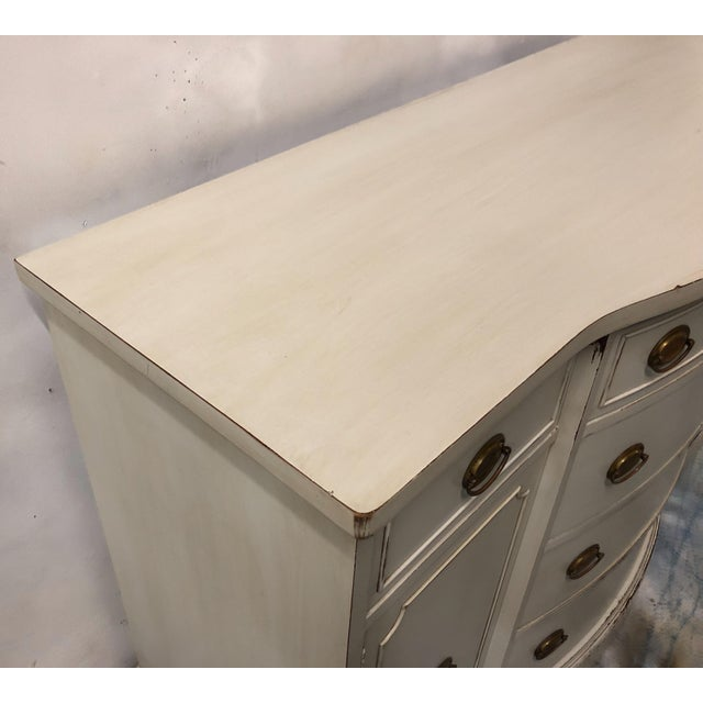 English Traditional 1950s Hand Painted Sideboard by Brickwede Bros. For Sale - Image 3 of 7