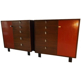 Pair of George Nelson Herman Miller Cabinets For Sale