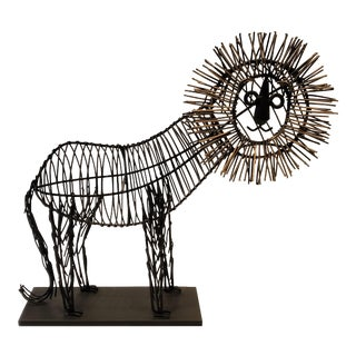Curtis Jere-Style Modernist Lion Scupture For Sale