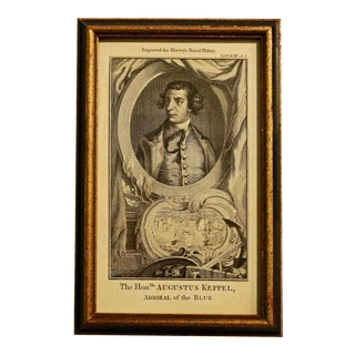 """18th Century Print """"The Honorable Augustus Keppel, 'The Naval History of Great Britain'"""" by Frederic Hervey For Sale"""