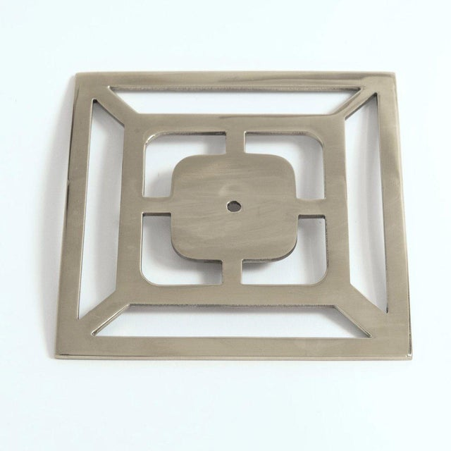"""Contemporary Addison Weeks Benson 5"""" Backplate - Polished Nickel For Sale - Image 3 of 5"""