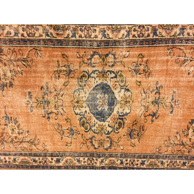 """Islamic Vintage Floral Turkish Wool Rug - 5'3"""" x 8'11"""" For Sale - Image 3 of 6"""