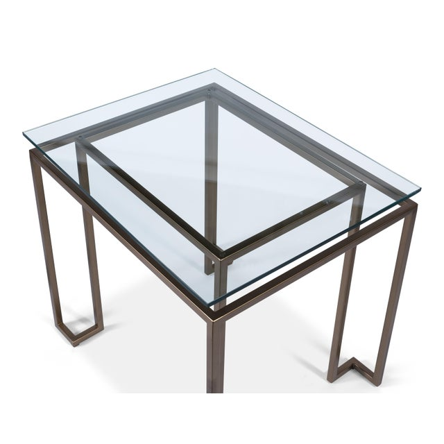 Contemporary Sarreid Bartlet Side Table For Sale - Image 3 of 5
