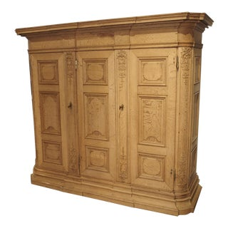 19th Century 3-Door French Oak Cabinet For Sale