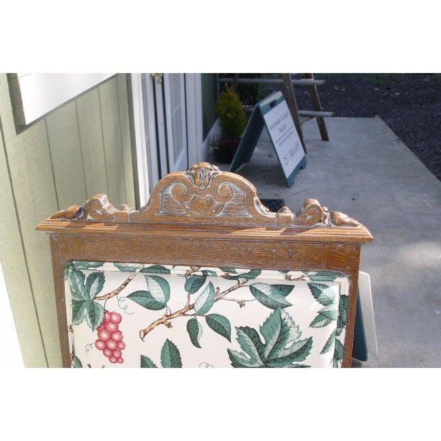 Oak Vintage Mid Century Ornately Carved Oak Side Chair For Sale - Image 7 of 10