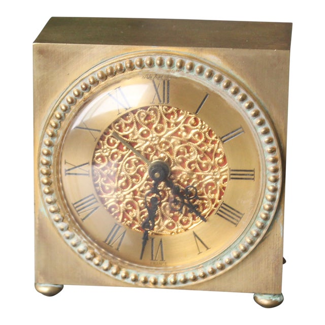 Sfa French Solid Brass Clock For Sale