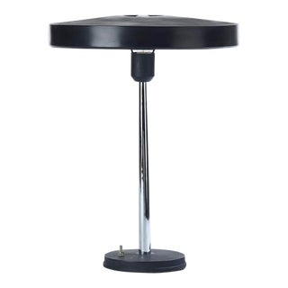 Philips Chrome and Black Timor Lamp Designed by Louis Kalff For Sale