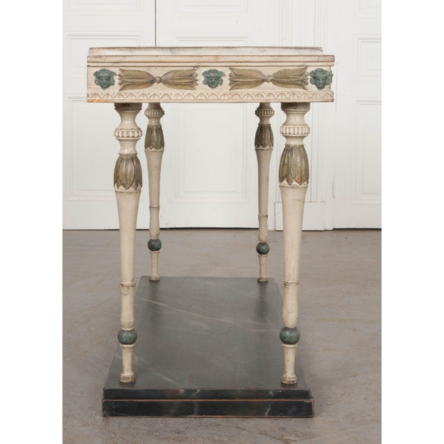 Empire Swedish 19th Century Carved and Painted Console For Sale - Image 3 of 12