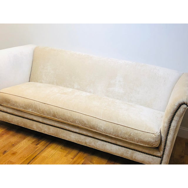 Textile Dapha Upholstery Beige Sofa For Sale - Image 7 of 13