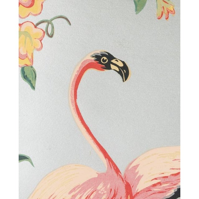 Vintage Mid-Century Flamingo Painting By M. Devoe For Sale - Image 4 of 10