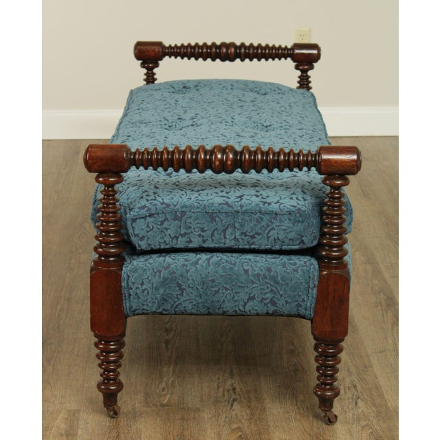 Antique 19th Century Bobbin Turned End of Bed or Window Bench For Sale - Image 4 of 13