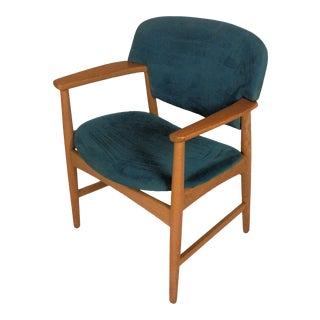 Mid-Century Modern Refinished Danish Armchair For Sale